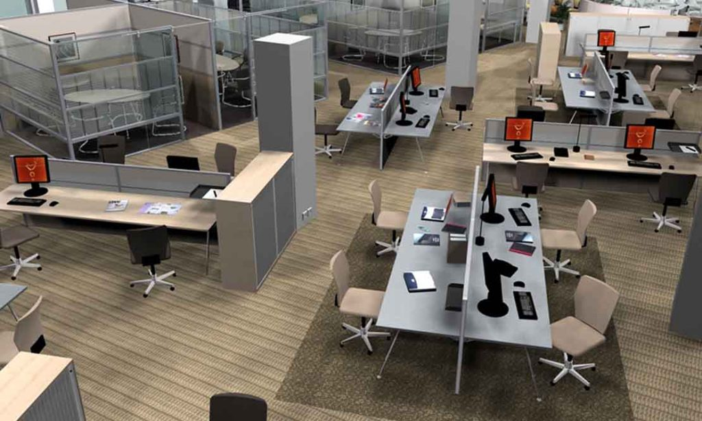 Open plan office cgi visual